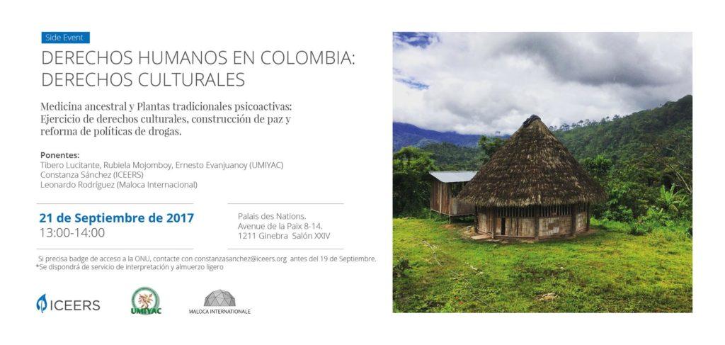 Side Event, Medicina Ancestral, Plantas Psicoactivas y Construcción de Paz