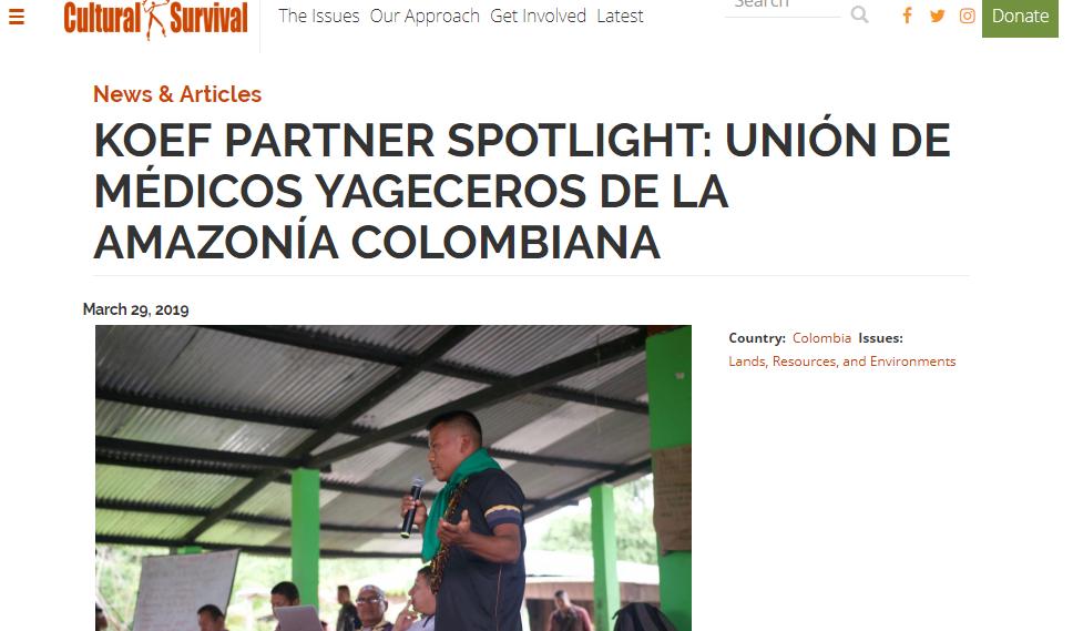 UMIYAC - Union of Indigenous Medics of the Colombian Amazon