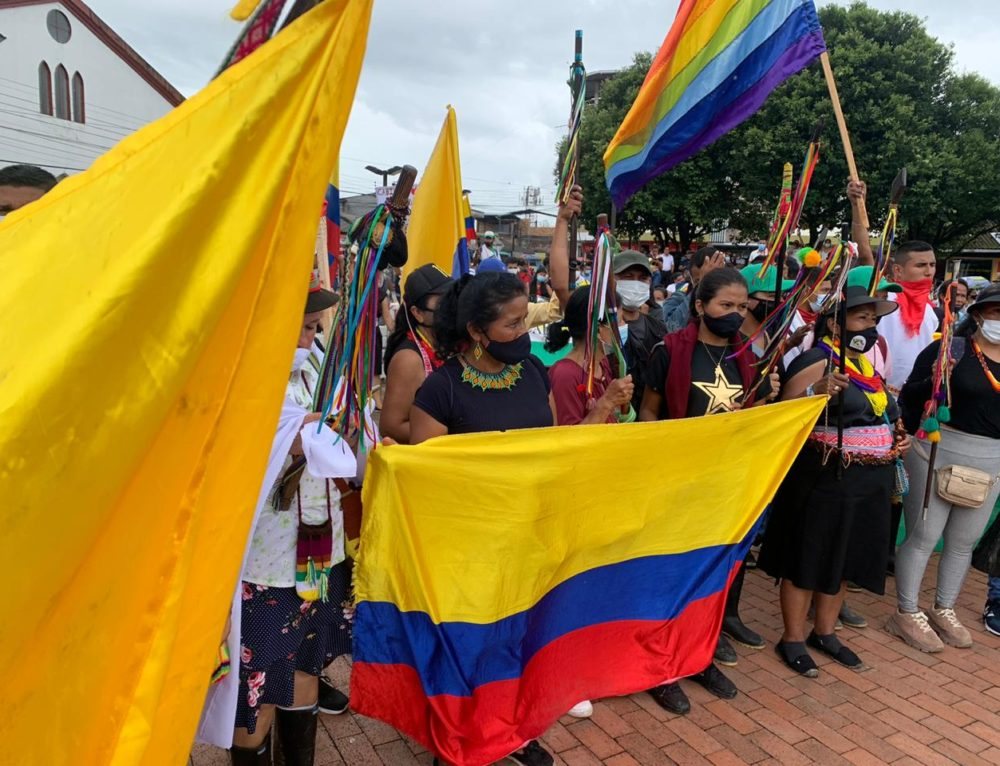 Resistance gathering for the right to life and for the defense of the Amazon region. Colombian national strike, Putumayo, may/June 2021